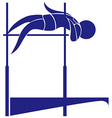 High jump icon in blue color vector image