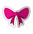 bow ribbon decorative frame vector image