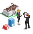Election News Infographic White House Us Isometric vector image