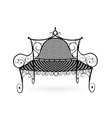 Forged bench front view vector image