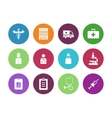 Hospital circle icons on white background vector image