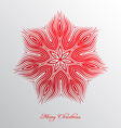 Nice christmas background with abstract snowflake vector image