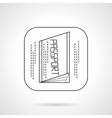 Passport icon flat line design icon vector image