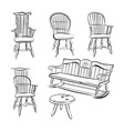 Set of assorted Chairs vector image