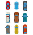 set of cars top view vector image