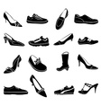 Shoes icons set vector image
