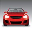 sports red car front view vector image