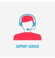 Support service icon vector image