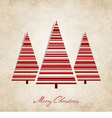 Vintage background for Christmas vector image