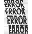 Glitched error message art typographic poster vector image