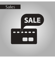 black and white style icon bank card sale vector image