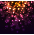 Abstract falling lights dark background vector image
