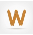 Wooden Boards Letter W vector image