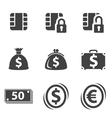 Money set icon vector image vector image