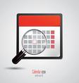 calendar icon 3 vector image