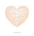 big heart with pattern isolated on background vector image