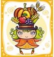 harvest girl vector image