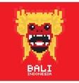 Bali traditional mask pixel art card vector image