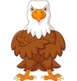 Cute eagle cartoon posing isolated vector image