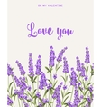 Lavender sign label vector image