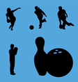 bowling collection vector image vector image
