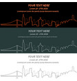 san francisco event banner hand drawn skyline vector image