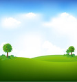 sky and landscape vector image