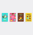 sweet party treats posters set vector image
