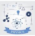 Symbols of physics vector image