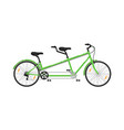 tandem city bicycle isolated icon vector image