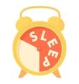 Time to sleep icon cartoon style vector image