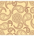 Vintage seamless paisley pattern vector image