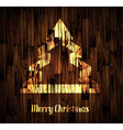 Christmas Backgraound with a stylish tree vector image vector image