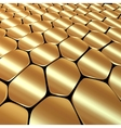 abstract metal gold background with polygons vector image
