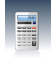 Silver calculator vector image