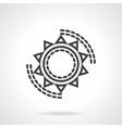 Sun symbol black line icon vector image
