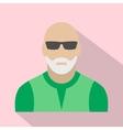 Man with gray beard avatar icon vector image