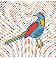 An of beautiful colorful bird vector image
