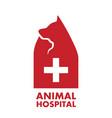 animal hospital logo vector image