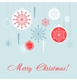 Christmas decorations card set New Year vector image