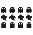 ghost icons set vector image