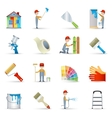 Painter icons set flat vector image