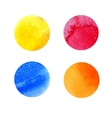 set of colorful watercolor stains vector image