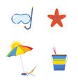 summer icon art vector image