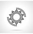 Sun symbol black line icon vector image