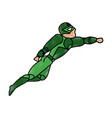 superhero character cartoon vector image