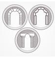 three types brick arch icon vector image