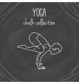 yoga poses Chalk on vector image