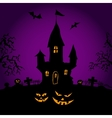 Happy Halloween party on violette background vector image