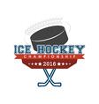Ice hockey championship emblem vector image